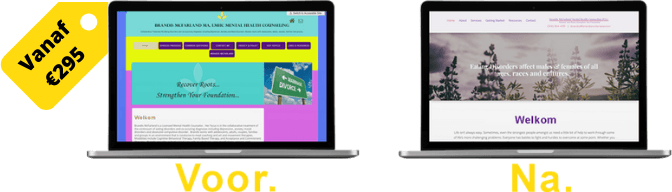 voor en na website laten vernieuwen